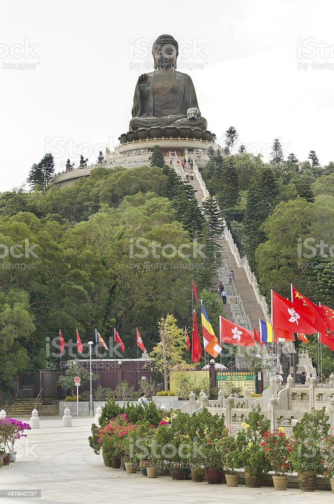 Tian Tan Buddha in Hong Kong stock photo