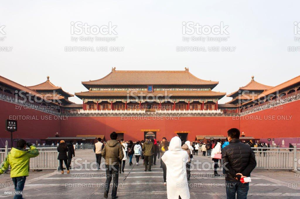 Tiananmen gate entrance stock photo