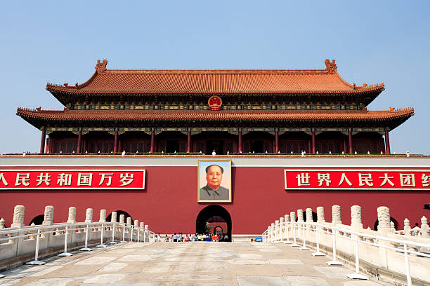Tiananmen, Gate of Heavenly Peace, Beijing  mao tse tung stock pictures, royalty-free photos & images