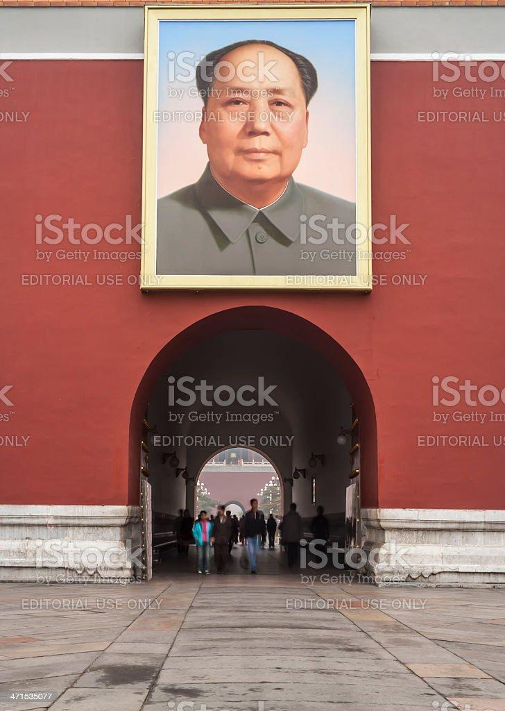 Tiananmen Gate of Heavenly Peace, Mao, Beijing royalty-free stock photo