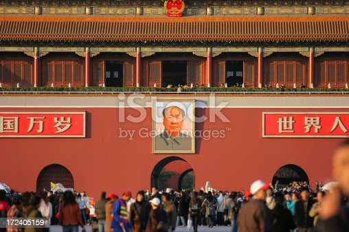 The Tiananmen Gate Of Heavenly Peace in Beijing.