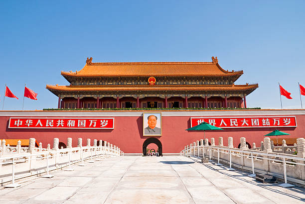 Tiananmen Tiananmen, Gate of Heavenly Peace, Beijing mao tse tung stock pictures, royalty-free photos & images