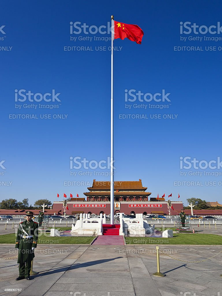 Tiananmen Square And The Forbidden City In Beijing, China stock photo