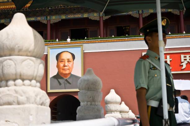 tiananmen square, imperial palace, china, beijing - chinese military bildbanksfoton och bilder