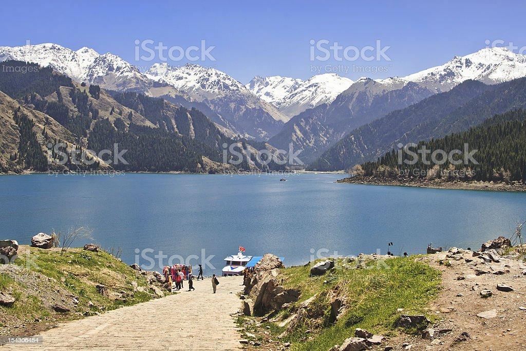 Tianchi Lake in Urumqi, Xinjiang, China stock photo