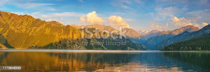 Tianchi Lake in Xinjiang province,China
