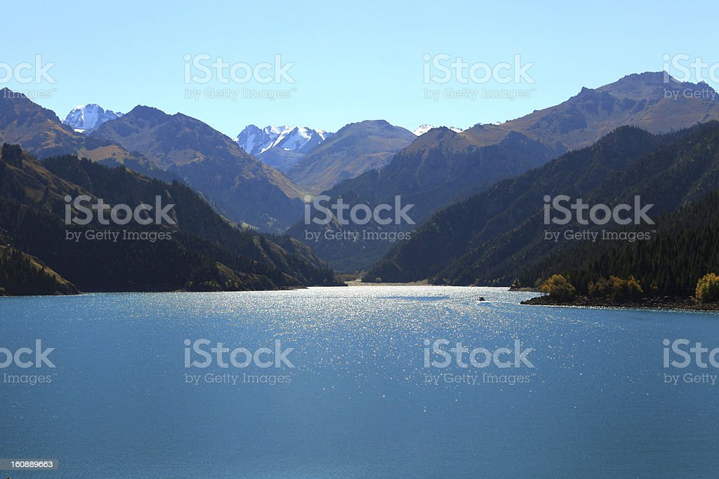 Tianchi Lake stock photo