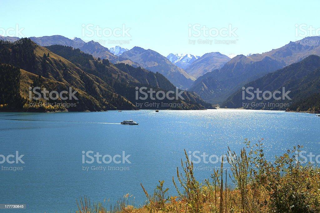 Tianchi Lake, Xinjiang, China stock photo