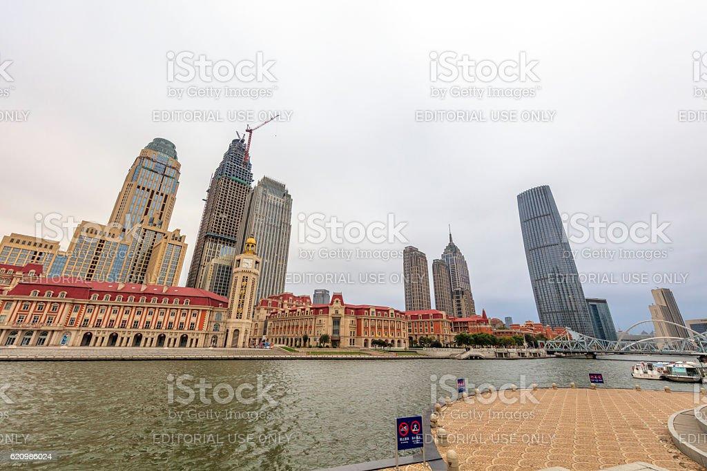 tianjin jinwan plaza and Downtown, China foto royalty-free