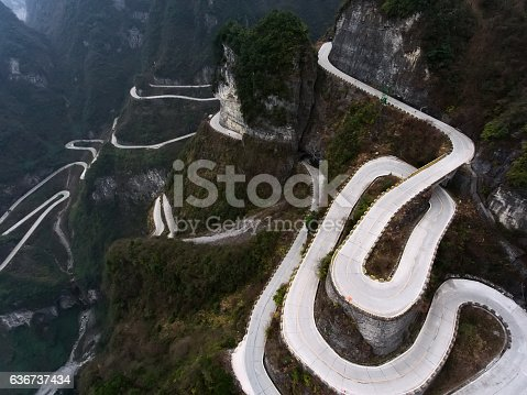 istock Tianmen Mountain 636737434
