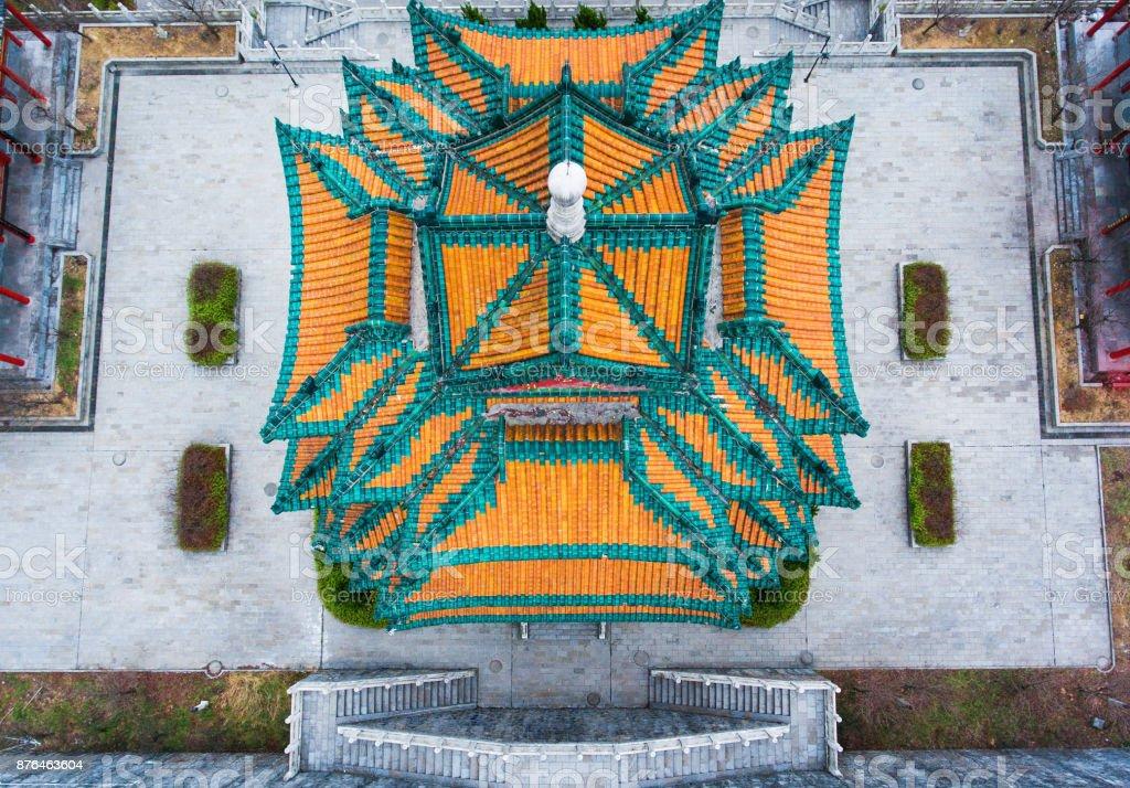 Tianmenshan Temple stock photo
