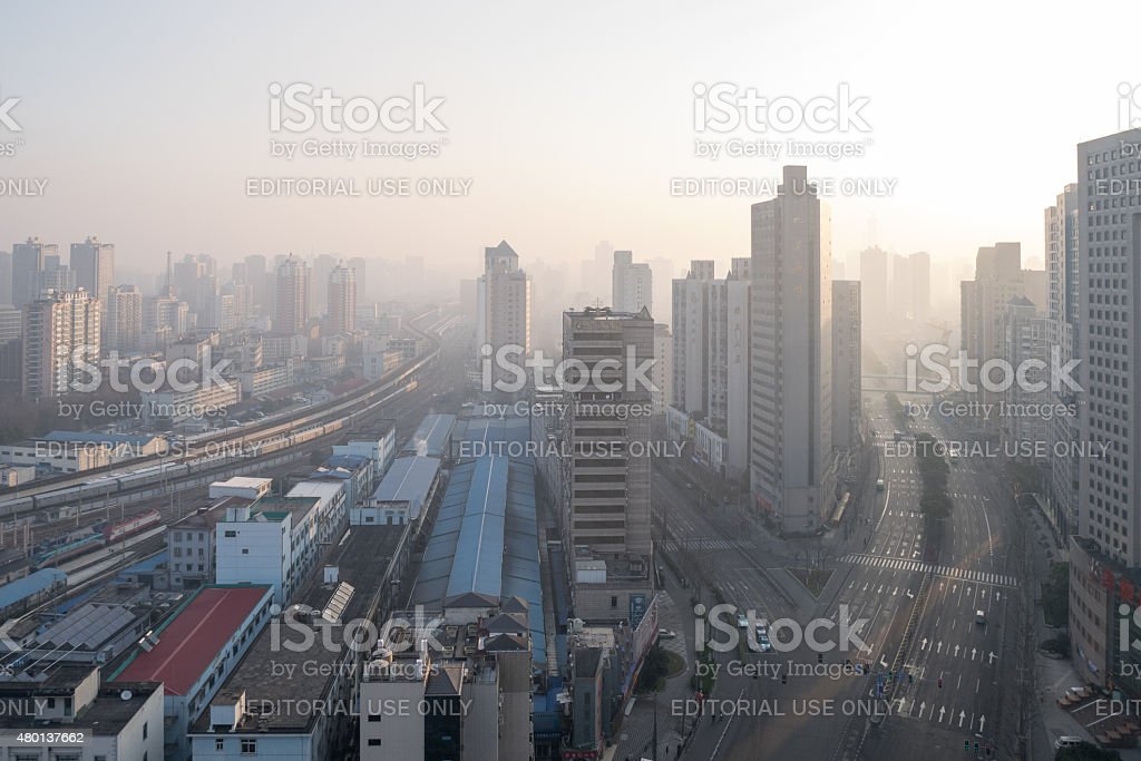 Tianmu middle road stock photo