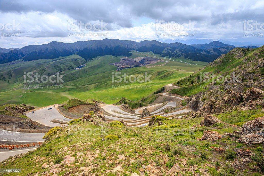 Tianshan Grand Canyon near Urumqi of Xinjiang, China stock photo