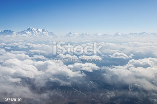 istock tianshan mountains scenery in air 1087429192