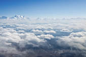 on the cloud, tianshan mountains scenery in air