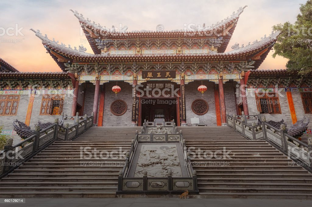 Tianwang hall of Dongshan temple stock photo