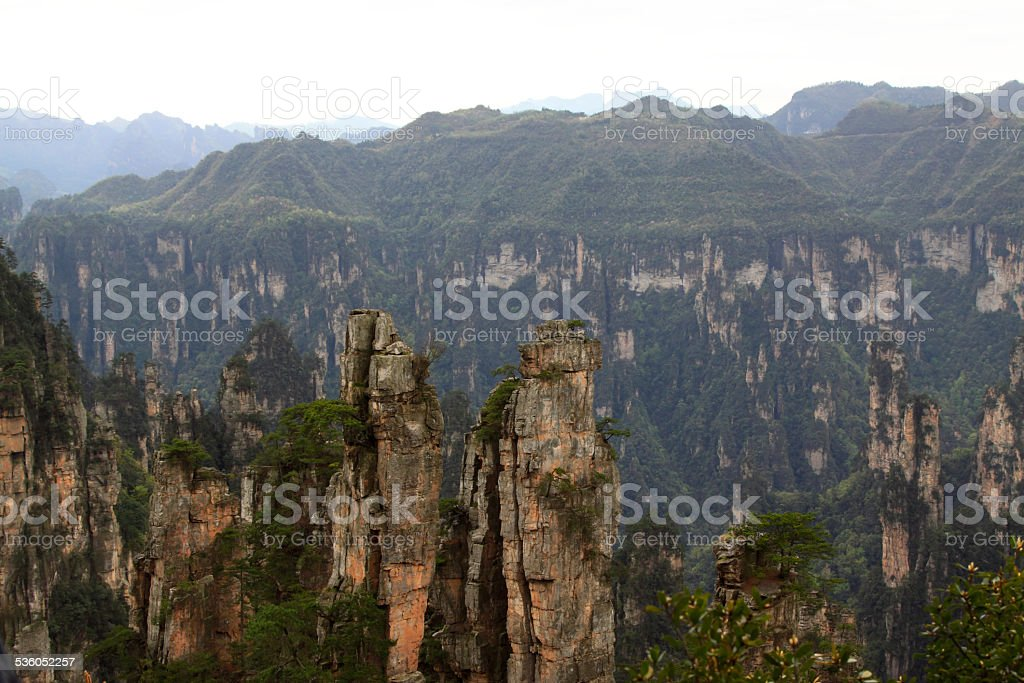TianZi Mountain natural scenery stock photo