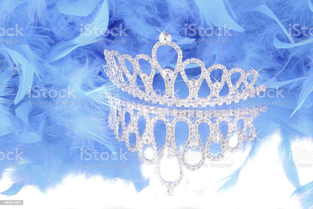 tiara and blue feather boa royalty-free stock photo
