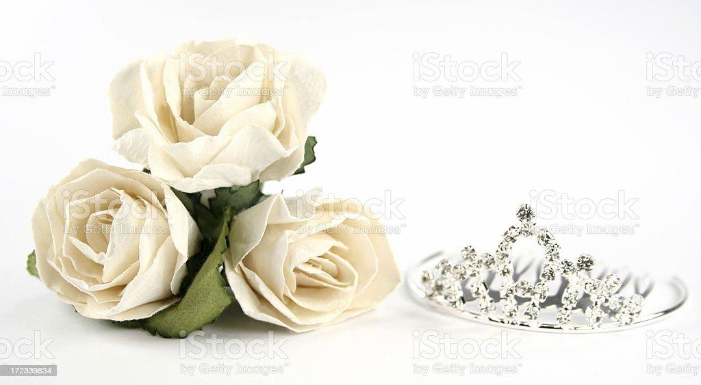 tiara and roses stock photo