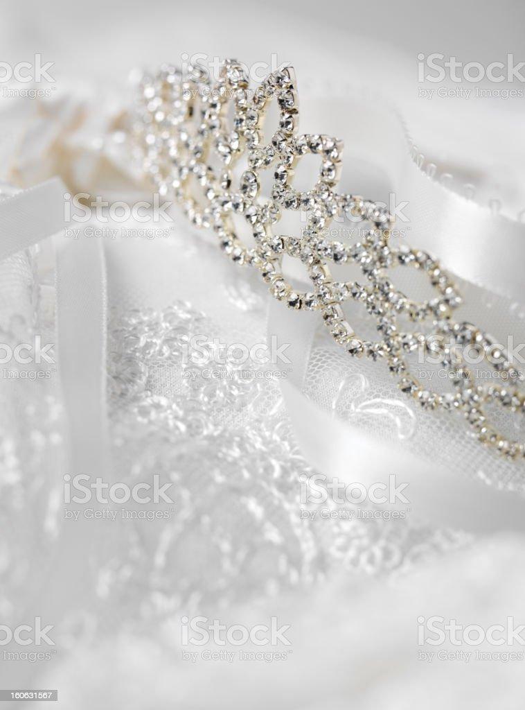 Tiara for a Wedding Day royalty-free stock photo