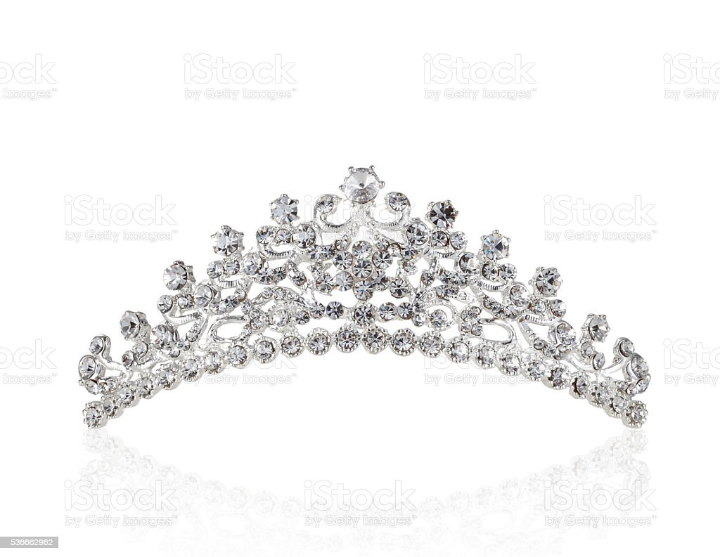 Tiara Isolated on White stock photo