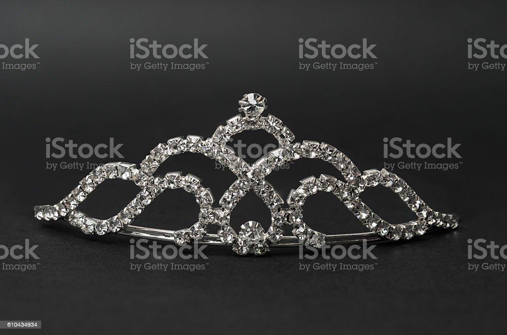 tiara on a black background stock photo