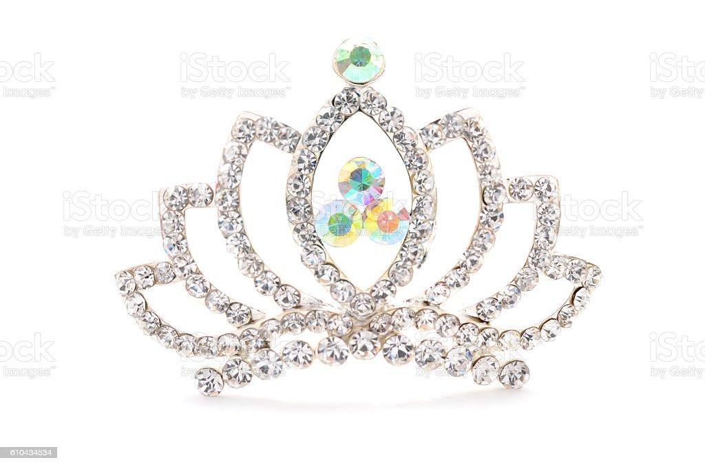 tiara on a white background stock photo