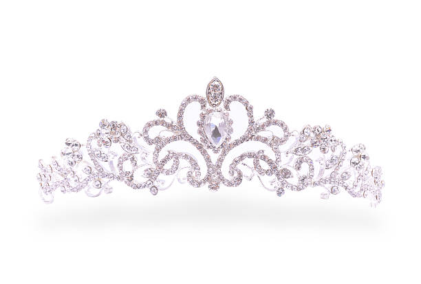 tiara on a white background - diadem stock pictures, royalty-free photos & images