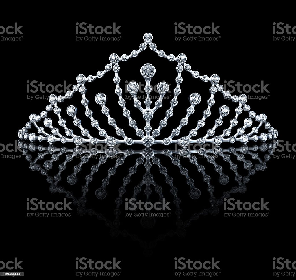 Tiara On The Black Background stock photo