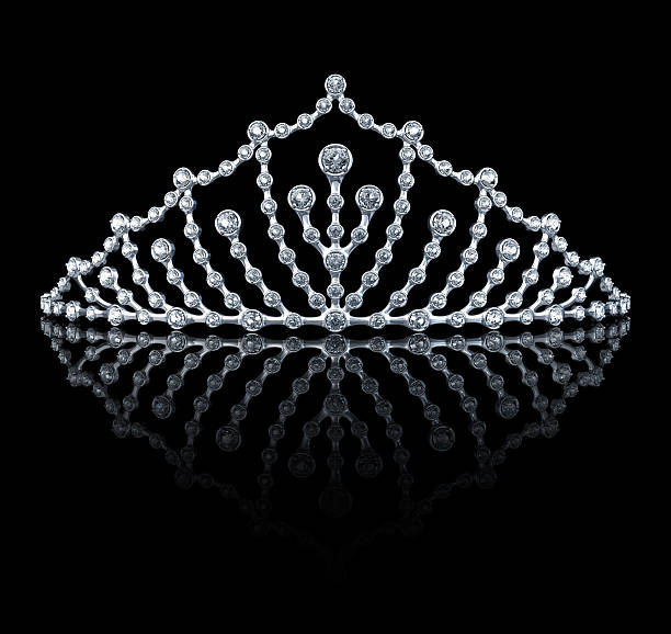 tiara on the black background - diadem stock pictures, royalty-free photos & images
