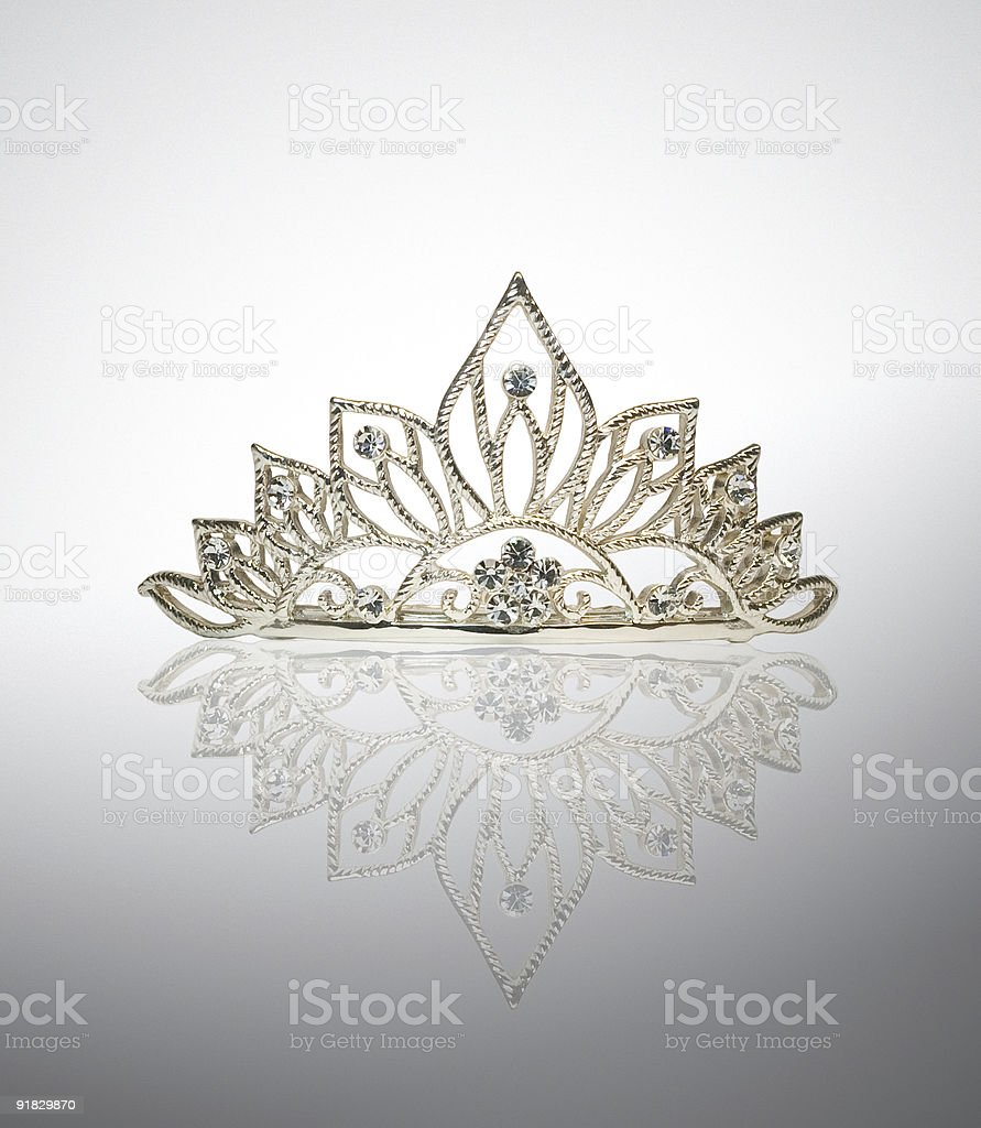 Tiara or diadem stock photo