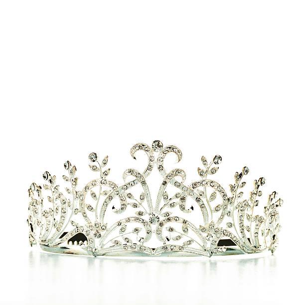 Tiara Tiara with crystal stones diademe stock pictures, royalty-free photos & images