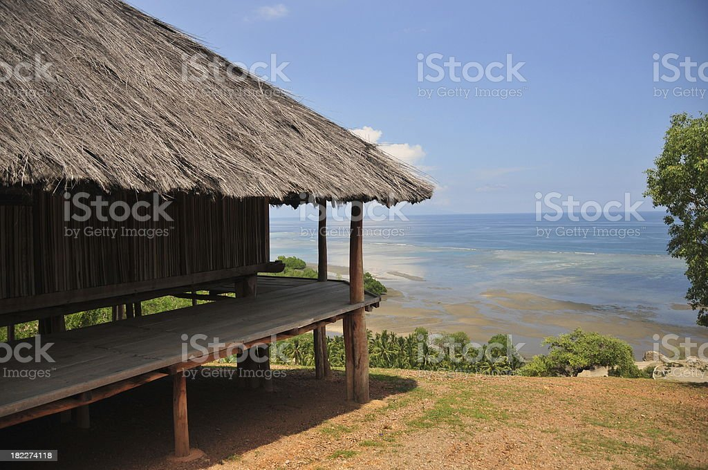 Tibar bay, East Timor: traditional timorese house royalty-free stock photo