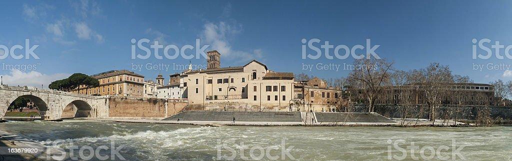 Tiber Island stock photo