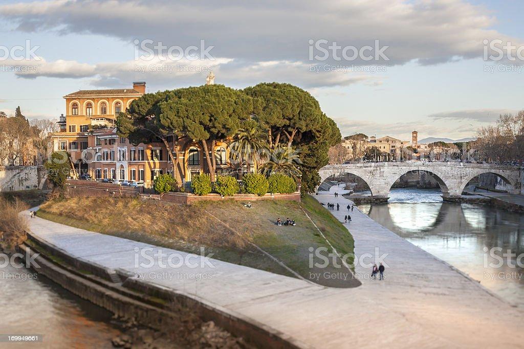 Tiber Island , Rome Italy stock photo