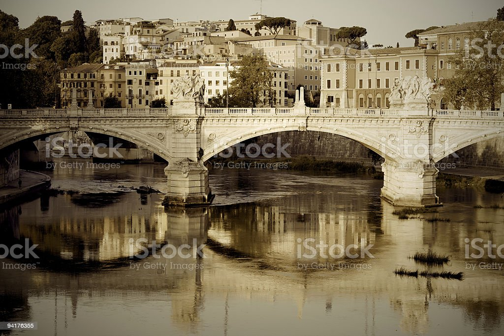 Tiber river stock photo