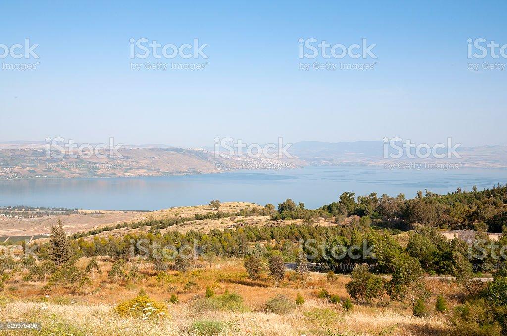 Tiberias and The Sea of Galilee stock photo