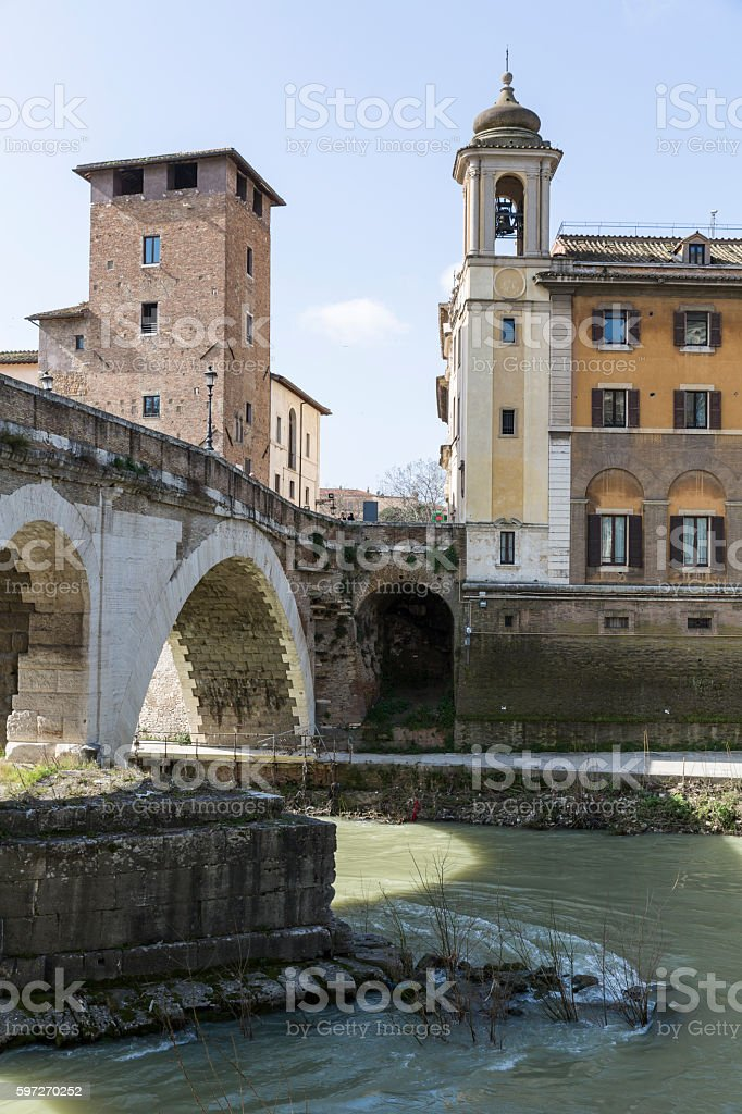 Tiberinsel - Isola Tiberina royalty-free stock photo