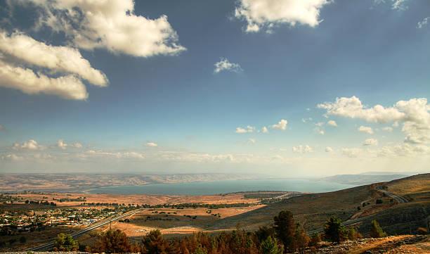 Tiberius from Galilee, Israel stock photo