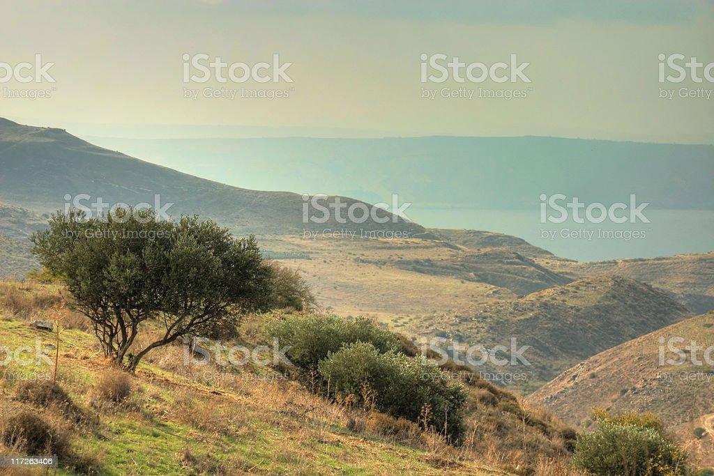 Tiberius from Galilee stock photo