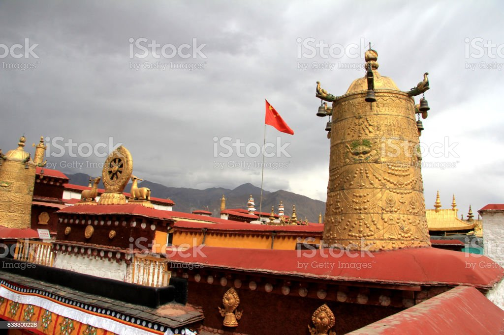 Tibet Admiralty, golden chimes in the Potala Palace Tibet in China stock photo