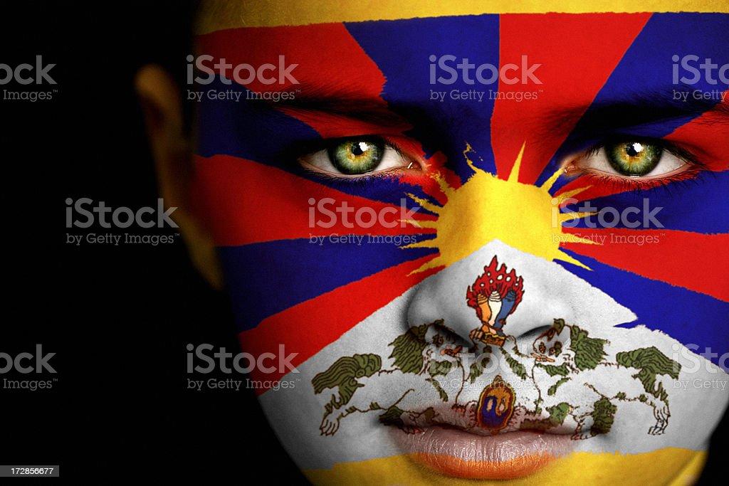 Tibet boy royalty-free stock photo