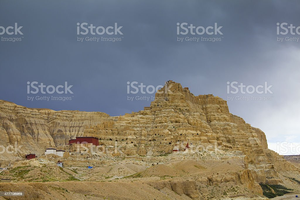 Tibet guge dynasty ruins stock photo