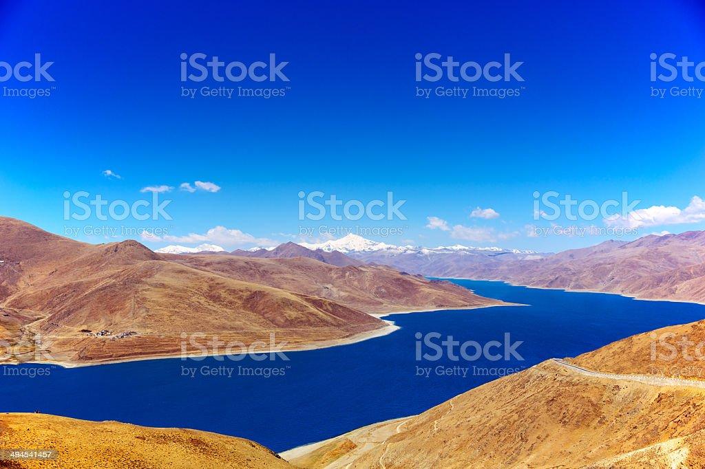 Tibet landscape stock photo