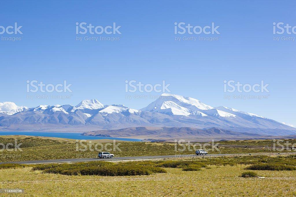 tibet: mount naimonanyi royalty-free stock photo