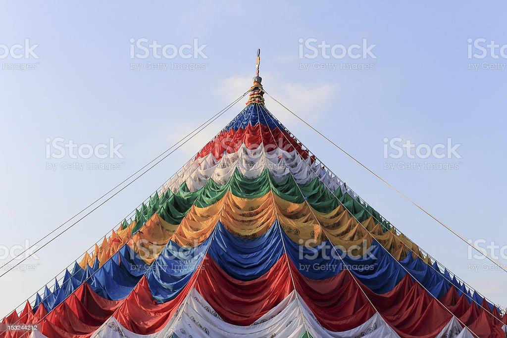 El Tíbet oración Flags - foto de stock