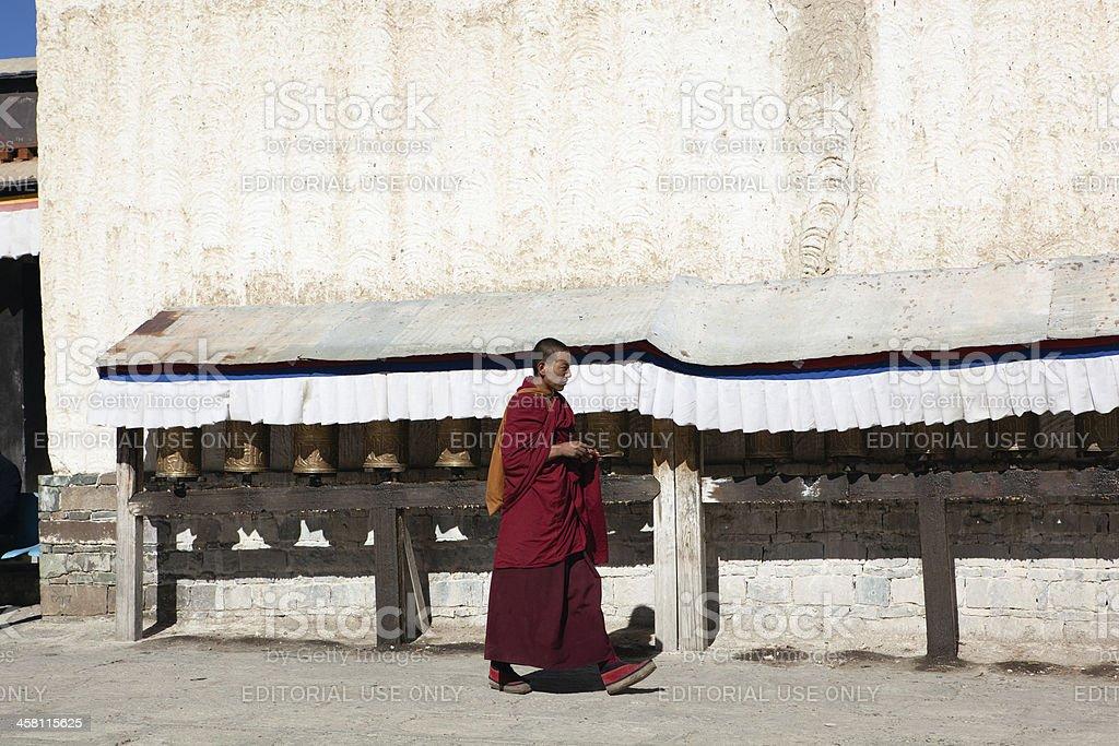 tibet: tibetan lama royalty-free stock photo