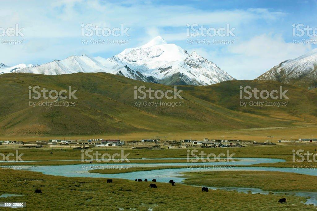Vista de Tíbet - foto de stock