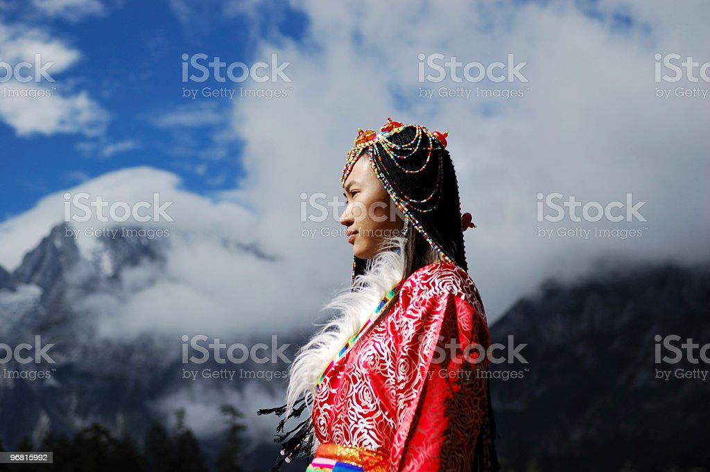 Tibet Woman stock photo