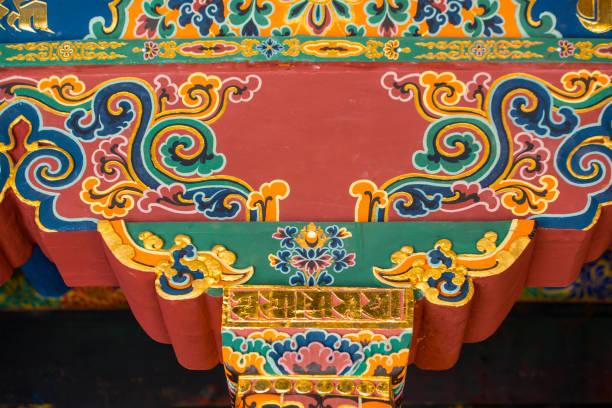 Tibetano arquitectura y arte, Lhasa, Tíbet - foto de stock